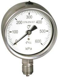 03382 CHV-Celonerezový, vodotěsný tlakoměr se spodním přípojem. 03382 - CHV  M20x1,5