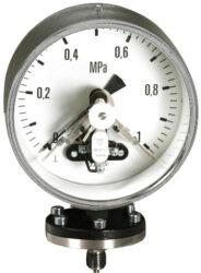 03393                                                                           -Kontaktní membránový tlakoměr se spodní přírubou. Příruba litinová, membrána ocelová. 03393  M20x1,5