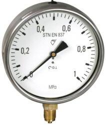 03313 - V                                                                       -Vodotěsný tlakoměr se spodním přípojem. 03313 - V M20x1,5