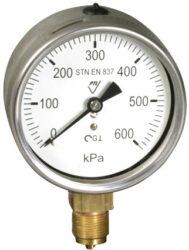 03382 - V                                                                       -Vodotěsný tlakoměr se spodním přípojem. 03382 - M20x1,5