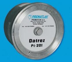 DATREZ-DATREZ PT-201 elektronický záznamník tlaku IP 65, tř. př. 0,5%, napájení 3x1,5V/DC-baterie, připojení k PC 9-pin konektor, paměť 150000 záznamových bodů, interval záznamu min. 5 sec., max. 24 hod, připojení G1/2