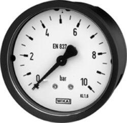 111.16.63-Standardní tlakoměr se zadním přípojem. 111.12.63  M12x1,5