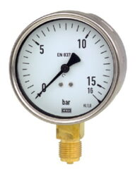 212.20.100                                                                      -Standardní tlakoměr se spodním přípojem. 212.20.100
