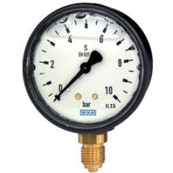 113.13.63-Standardní tlakoměr se spodním nebo zadním přípojem. 113.13.63