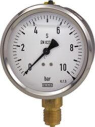 213.53.63-Standarní tlakoměr se spodním nebo zadním přípojem. 213.53.63