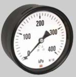 MI40S/173/2,5                                                                   -Standardní tlakoměr se zadním přípojem. MI40S/173/2,5