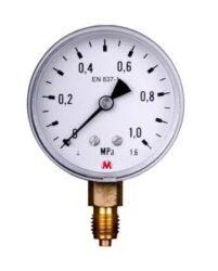 MM60S/112/1,6-Standardní tlakoměr se spodním přípojem. MM60S/112/1,6