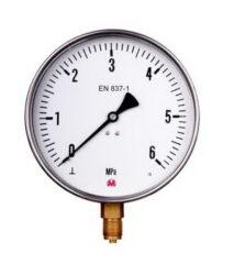 MM160S/317/1,6-Membránový tlakoměr se spodním přípojem. MM160S/317/1,6