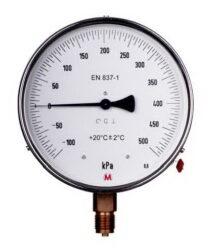 MM160K/117/0,6-Etalonový tlakoměr se spodním přípojem. MM160K/117/0,6