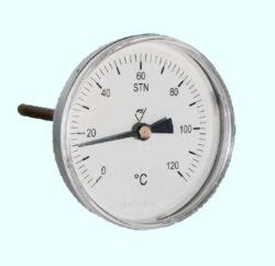 7011-Bimetalový teploměr rovný TDP 80