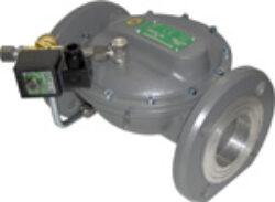 Bezpečnostní membránový uzávěry tlaku plynu-Bezpečnostní membránové uzávěry tlaku plynu, DN-40 až DN-200, přírubové připojení  PN-16. Ventily jsou v základní poloze bez napětí UZAVŘENY (NC) . Pracovní přetlak: od 1 kPa až do 500 kPa , provedení - SOLO, 230V,24V AC, 24V DC, prostředí obyčejné . Pracovní poloha: vodorovná