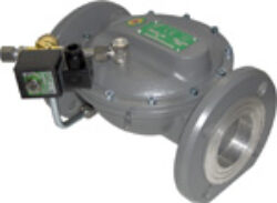 Bezpečnostní membránové uzávěry tlaku plynu (Ex)-Bezpečnostní membránové uzávěry tlaku plynu do Ex prostředí, DN-40 až DN-200, přírubové připojení  PN-16. Ventily jsou v základní poloze bez napětí UZAVŘENY (NC) . Pracovní přetlak: od 1 kPa až do 500 kPa , provedení - SOLO, 230V,24V AC, 24V DC, prostředí  s nebezpečím výbuchu (Ex) . Pracovní poloha: vodorovná