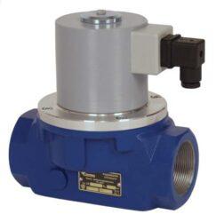 Bezpečnostní ventily pro plyn (závitový).-Bezpečnostní ventily / uzávěry pro plyn typová řada ZE, Rp 3/4 (DN20) až Rp 2 1/2 (DN65), závitové (Rp), ventily jsou v základní poloze bez napětí UZAVŘENY (NC) . Pracovní přetlak: od 0 kPa až do 250 kPa , 230V, 110V, 24V AC, 12V DC, 24V DC , prostředí  s nebezpečím výbuchu. Pracovní poloha: vodorovná .