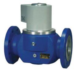 Bezpečnostní ventily pro plyn (přírubové).-Bezpečnostní ventily / uzávěry pro plyn typová řada ZEF, DN-50 až DN-100, přírubové přrovedení (připojení PN16), ventily jsou v základní poloze bez napětí UZAVŘENY (NC) . Pracovní přetlak: od 0 kPa až do 400 (200, 50) kPa , 230V, 110V, 24V AC, 12V DC, 24V DC , prostředí  s nebezpečím výbuchu. Pracovní poloha: vodorovná .