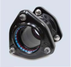 Ultragrip-spojka (DN-150)-Ultragrip spojka s jištěním proti posunu , DN-150 (min./max. 158,2 - 192,2 ) pro ocel. šedá a tvárná listina, PE, PVC .