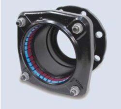 Ultragrip-adaptér přírubový (DN-80)-Ultragrip přírubový adaptér s  jištěním proti posunu , DN-80 (min./max. 85,7 - 107,0 ) pro ocel. šedá a tvárná listina, PE, PVC .