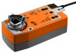NF..A-Pohony s pružinovým zpětným chodem typové řady NF..A (10 Nm) s připojovacím kabelem pro klapky s mechanickou havarijní funkcí do cca 2m2, univerzální třmen 10...22 mm, 14...25.4 mm.