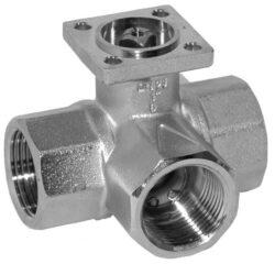3cestné rozdělovací - otevřeno-zavřeno-3cestné uzavírací kulové kohouty se servopohonem Belimo typové řady: LR.., NR.., SR.. AC 230 V; AC/DC 24 V.