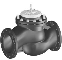 Přírubový PN 16, DN 200-250 - 3bodový-Přírubový ventil PN 16 do 120°C, DN 200-250 se servopohonem Belimo, typová řada: GV... 120°C při 16 bar, 150°C při 14,4 bar. AC 230 V.