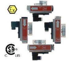 SMO, SMW-Průtokoměr / -spínač pro proměnlivá množství typové řady SMO/SMW. Nastavitelný, celokovový.
