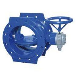 EKN-EKN uzavírací klapka přírubová s ručním kolem, se zemní soupravou VA-TELESKOP nebo ovláním elektrickým servopohonem. PN 10 a 16.  DN 150 ... 1200.