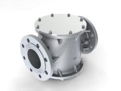Filtr plynový FG8-6A, DN80-přírubové připojení PN16, Pmax.6 bar, filtrační vložka PPR tkanina 5µm, medium-zemní plyn,vzduch. Filtry typu FG jsou vyráběny v souladu s normami DIN 3386.