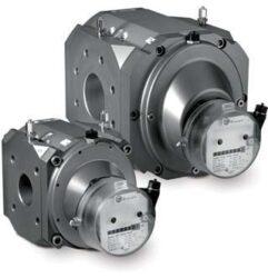 RABO G100-Rotační pístový plynoměr.  Qmin=3 m3/h,Qmax=160 m3/h, DN 80, PN 16bar přírubové provedení, samomazná ložiska