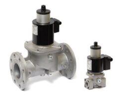 VML-bezpečnostní elektromagnetický ventil pro plyn dle EN 161, bez proudu uzavřen s pomalým-nastavitelným otevíráním a rychlím zavíráním. pro rozvody plynu nebo vzduchu do atmosferických hořáků, do pecí a dalších technologií využívajících plyn jako palivo